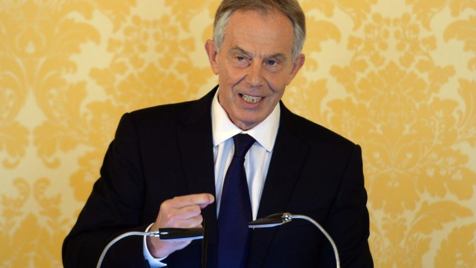 Tony Blair addresses the media following the Chilcot report release.