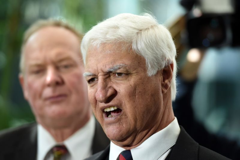 Bob Katter announced his support of Prime Minister Malcolm Turnbull and the Coalition in forming a government on Thursday. Photo: AAP