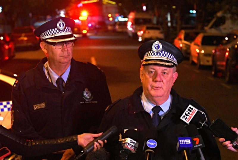 SW Police Assistant Commissioner Denis Clifford (right) speaks to the media. Photo: AAP