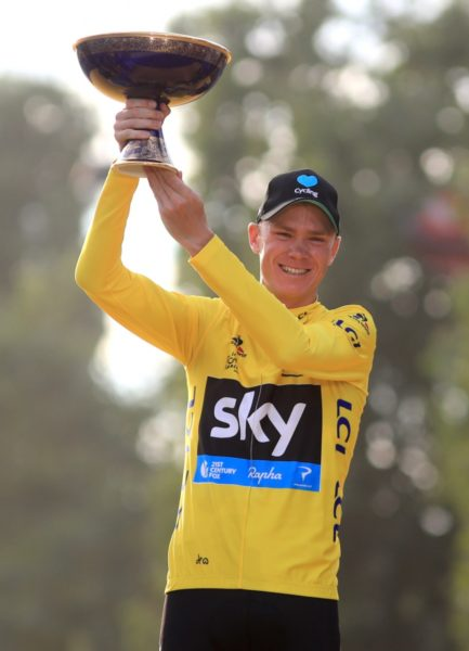 Froome survived two crashes and even a jog up a mountain road on the way to his third title. Photo: AAP