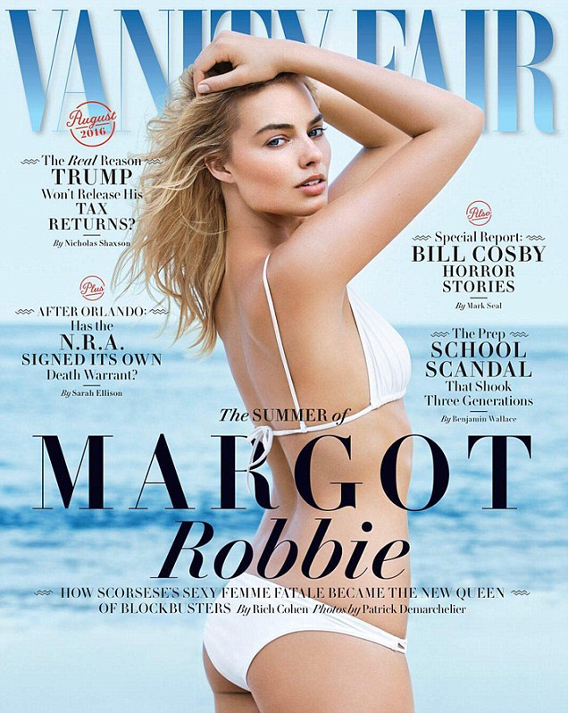 Robbie's contentious cover. Photo: Vanity Fair