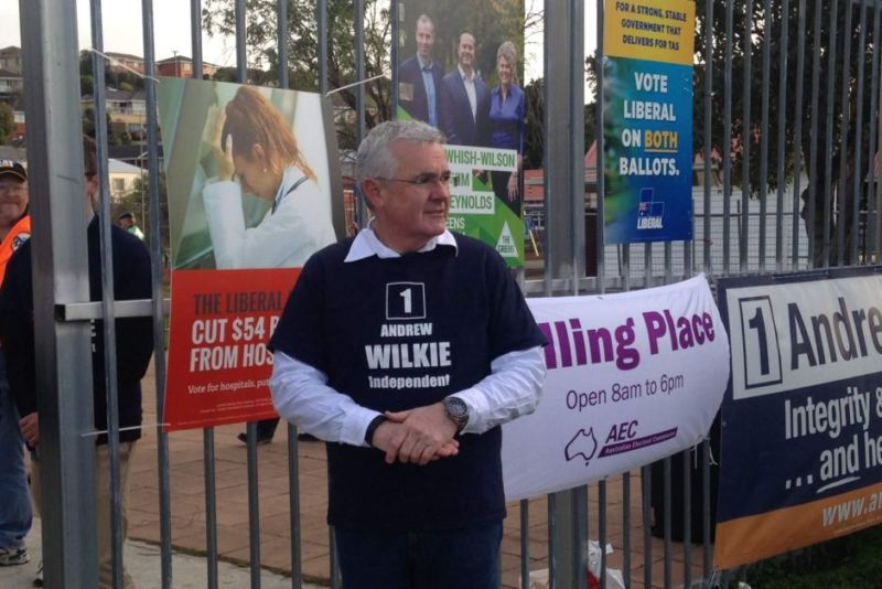 Independent MP Andrew Wilkie held the seat of Denison. Photo: ABC