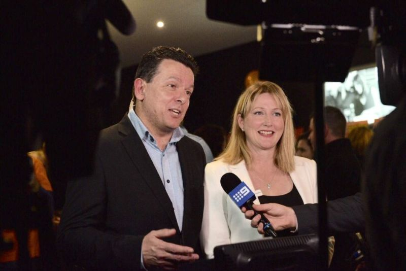 Rebekha Sharkie (R), from the Nick Xenophon Team, was elected to the House of Representative. Photo: ABC