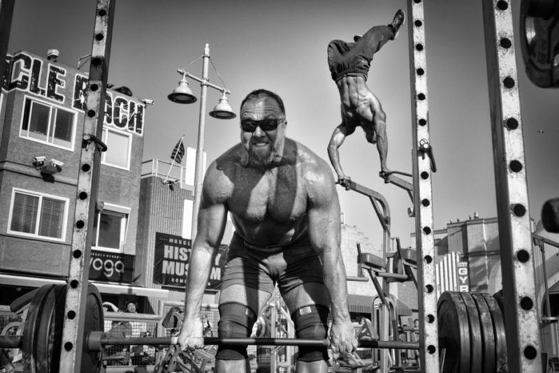 People honourable mention — Muscle Beach gym