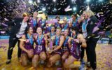 Champions again... The Firebirds' dominance of trans-Tasman netball continued right to the competition's final season.