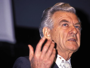 Former PM Bob Hawke: approached globalisation differently. Photo: Getty.