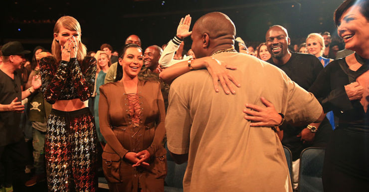 Taylor Swift, Kim Kardashian and Kanye West.