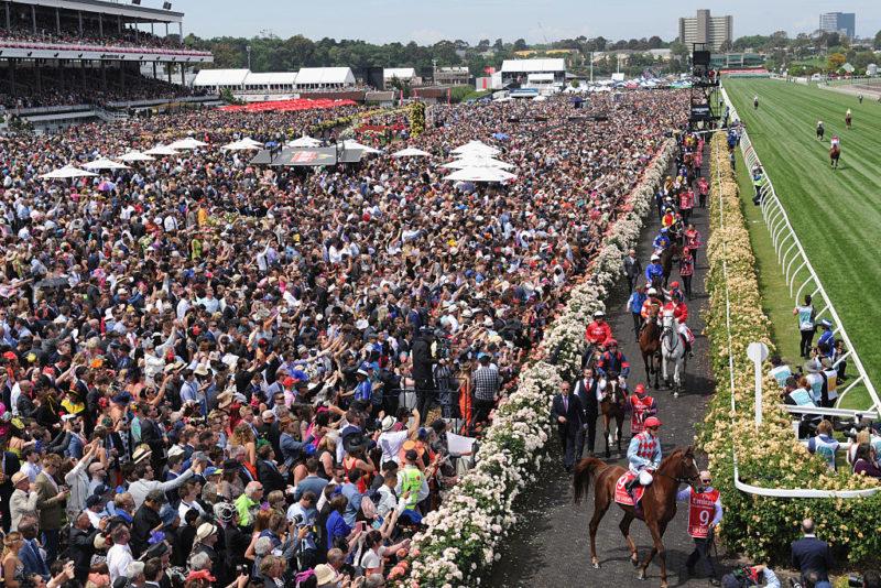 Big crowds attend Melbourne's Spring Racing Carnival.