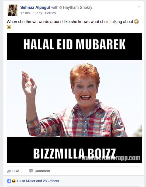 Pauline hanson halal