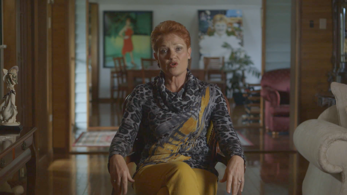 Pauline Hanson at home. Photo: SBS