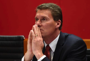 Cory Bernardi: agitating on behalf of Abbott loyalists. Photo: AAP.