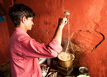 Chai is offered all over India. Photo: Getty