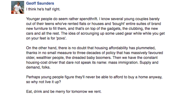 geoff saunders comment housing affordability