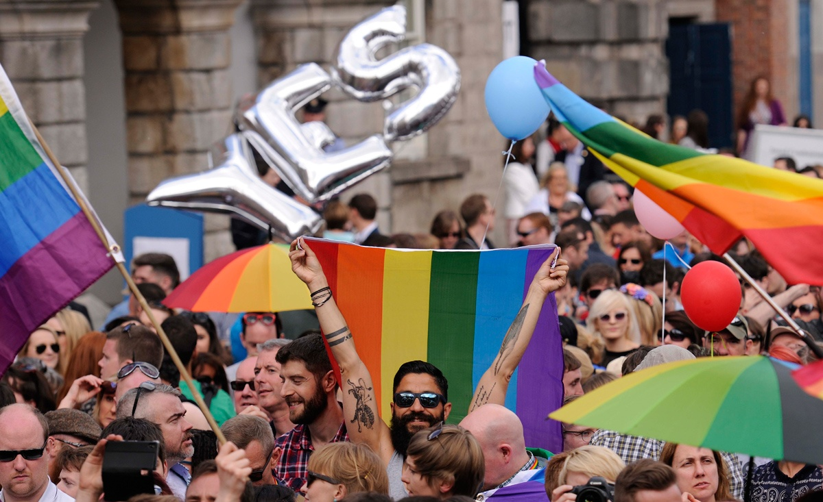 Ireland overwhelmingly voted to legalise same-sex marriage in 2015. Photo: Getty