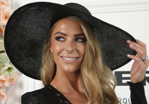 Fashion is a big part of the Spring Carnival. Here, MYER ambassador Jennifer Hawkins poses. Photo: Getty
