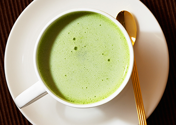 Bright green matcha is made from ground tea leaves. Photo: Getty