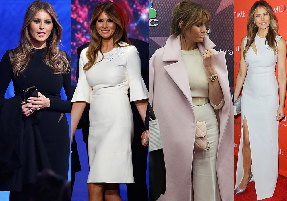 Melania Trump exudes understated glamour. Photo: Getty