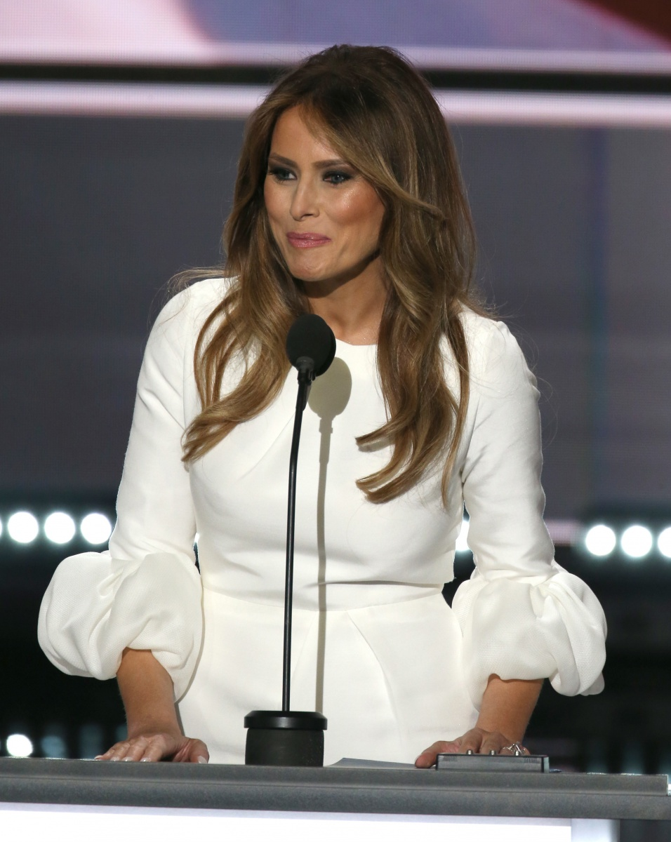 Melania Trump 's speech has made headlines for several different reason. Photo: Getty