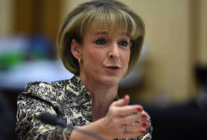 Employment minister Michaelia Cash: accentuating the positive. Photo: AAP.