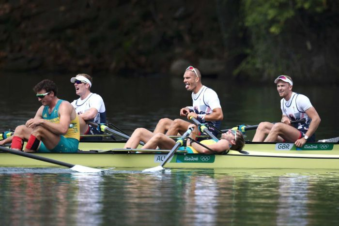 Australia wins gold in rowing