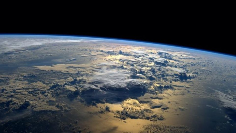 Sunrise over the planet.