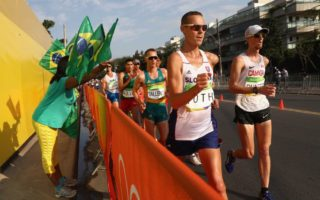 Jared Tallent won silver in the 50km walk.