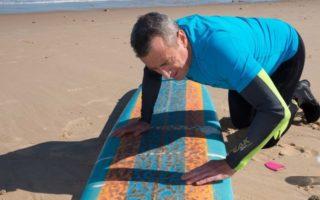 Surfer shark wax