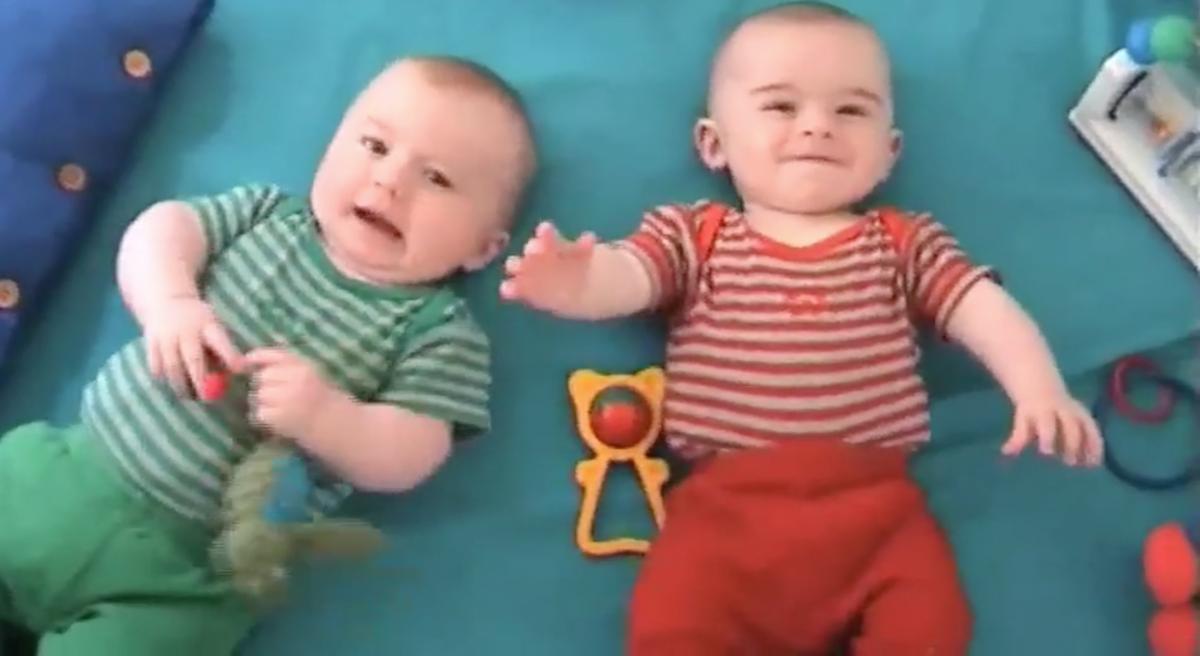 George and Harry as babies. Photo: Australian Story