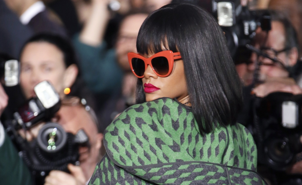 Rihanna is a typical red frames wearer. Photo: Getty