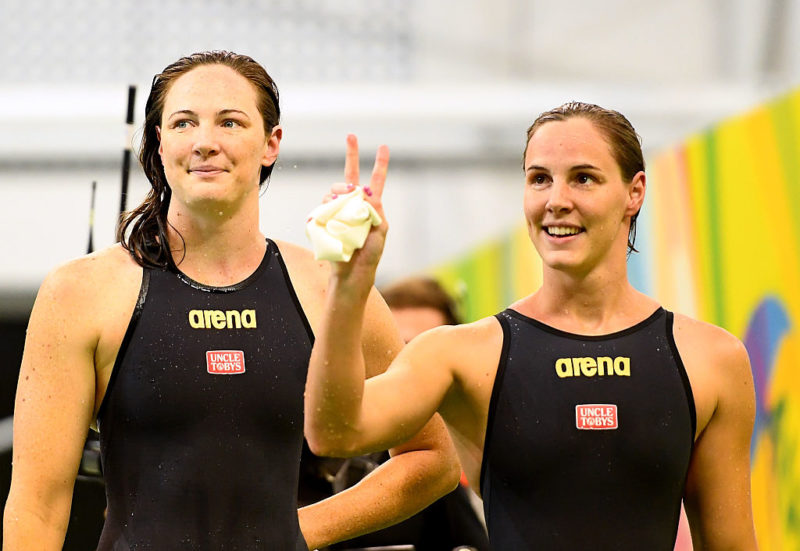 Cate and Bronte Campbell have a