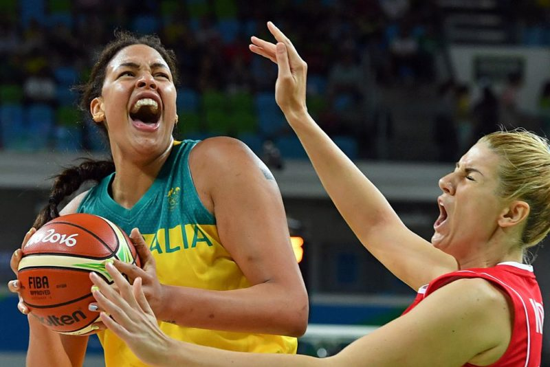 Liz Cambage tried her heart out but she finished the game in tears.