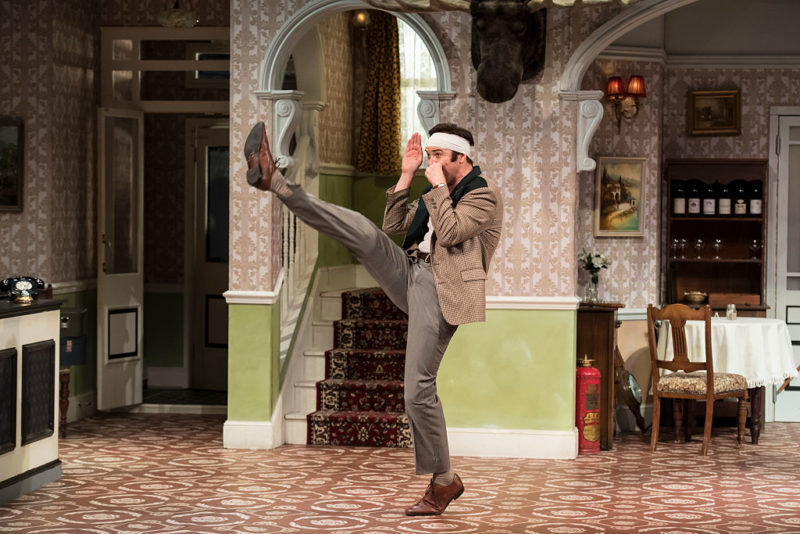Stephen Hall plays bumbling hotelier Basil Fawlty in the stage show.