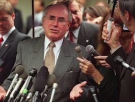 Former PM John Howard: changed capital gains tax laws. Photo: AAP.