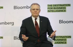 Treasurer Scott Morrison at his Sydney speech on Thursday.