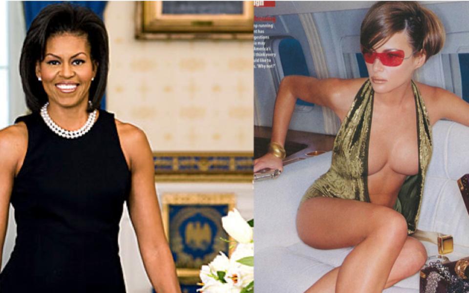 Knauss nude melania Melania Trump's