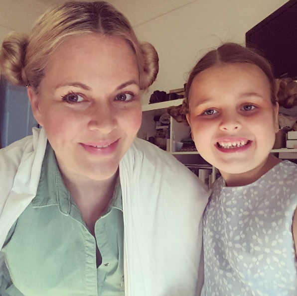 Brumfitt with her daughter, Mikaela. Photo: Instagram