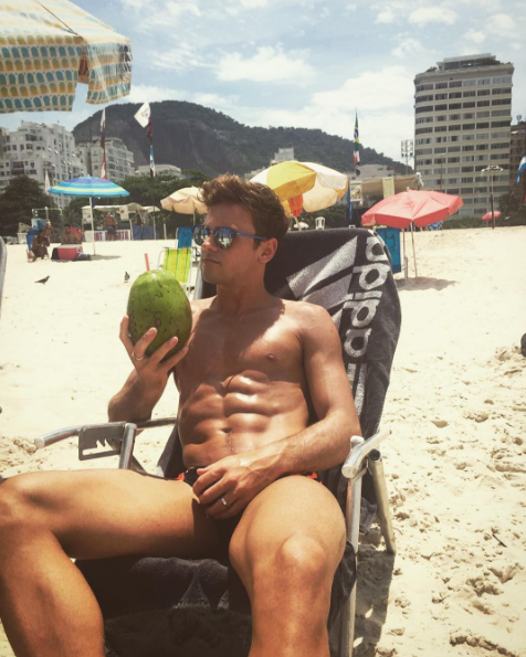 British diver Tom Daley has a huge following thanks to his good looks and video tutorials on healthy cooking – many of which he films shirtless. Photo: Instagram