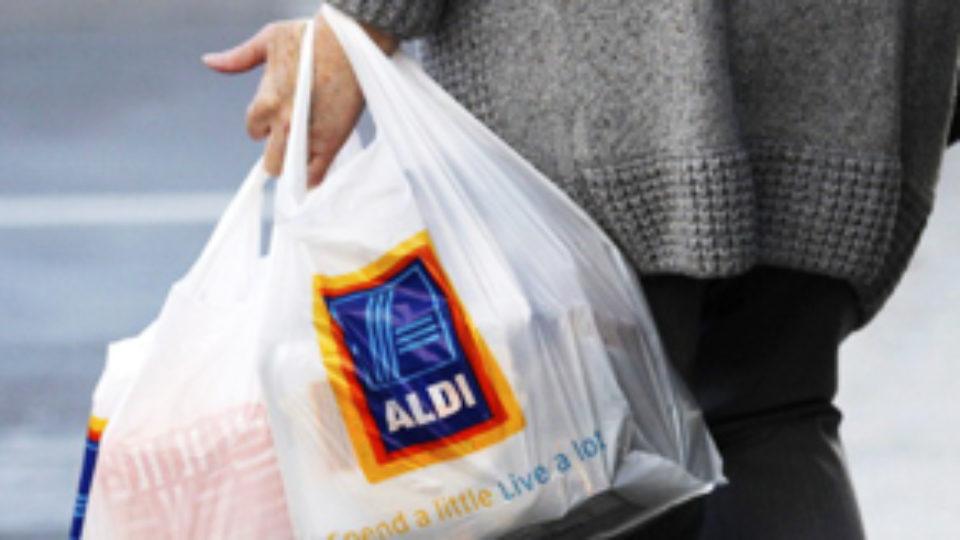 Aldi shopping bag supermarket