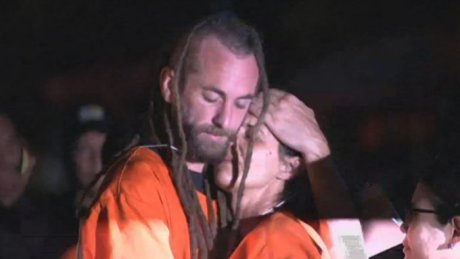 It was the first time David Taylor and Sara Connor had seen each other since their arrest.
