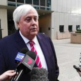 Clive Palmer outside court