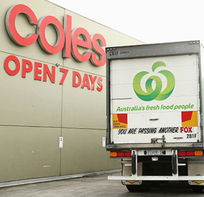 Coles Woolworths. Photo: Getty