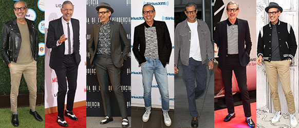 Jeff Goldblum's young is stylish, fresh and fun, but more importantly - everything fits and flatters him. Photo: Getty