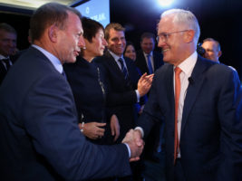 Coalition members are keen to paper over any rift between Tony Abbott and Malcolm Turnbull. Photo: AAP