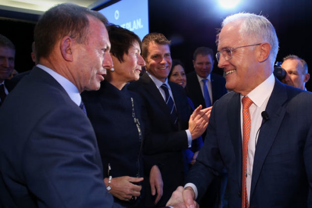 Coalition members are keen to paper over any rift between Tony Abbott and Malcolm Turnbull.