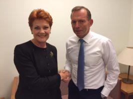 Tony Abbott Pauline Hanson