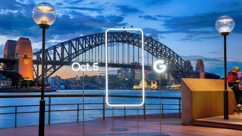 Google Pixel Sydney Harbour smartphone phone