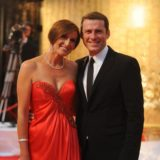 Karl Stefanovic and wife