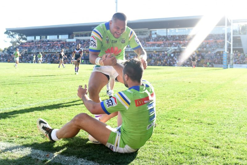 Joey Leilua and Jordan Rapana have dominated for Canberra this season.