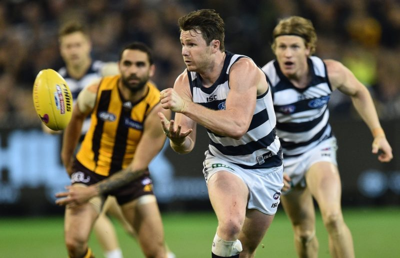 Patrick Dangerfield in action against Hawthorn.
