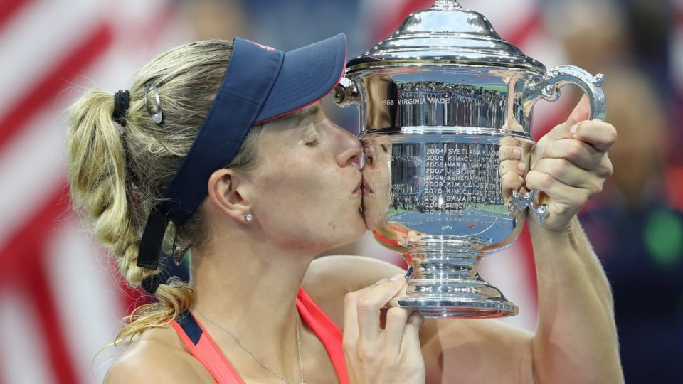 Kerber wins 1st set of US Open final vs Pliskova
